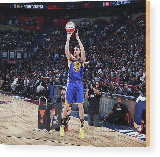 Event Wood Print featuring the photograph Klay Thompson by Nathaniel S. Butler