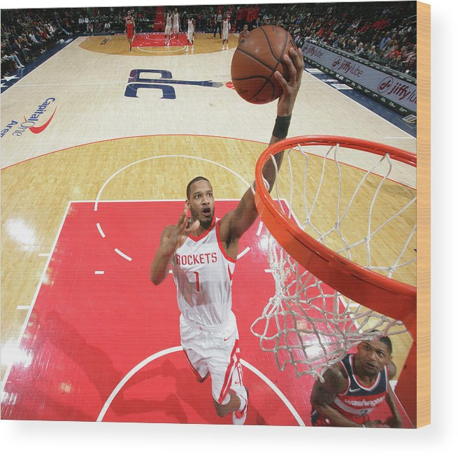 Nba Pro Basketball Wood Print featuring the photograph Trevor Ariza by Ned Dishman