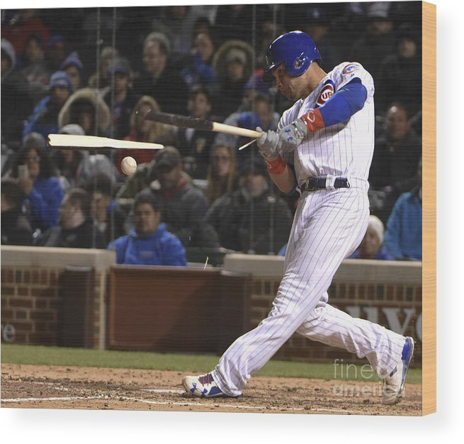 People Wood Print featuring the photograph Willson Contreras by David Banks