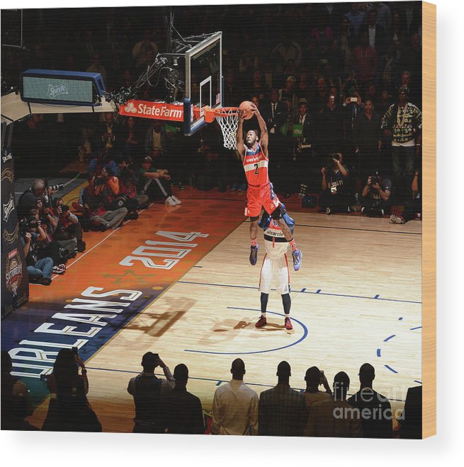 Smoothie King Center Wood Print featuring the photograph John Wall by Garrett Ellwood