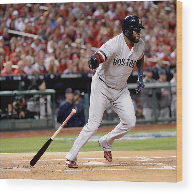 Playoffs Wood Print featuring the photograph David Ortiz by Ron Vesely