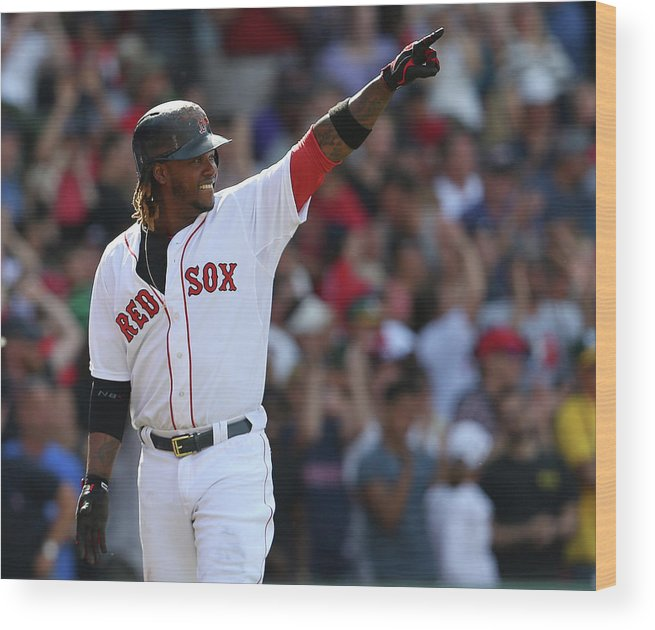 Three Quarter Length Wood Print featuring the photograph Hanley Ramirez by Jim Rogash