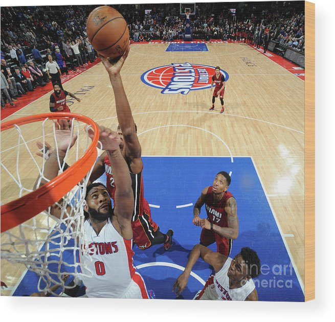 Nba Pro Basketball Wood Print featuring the photograph Hassan Whiteside by Chris Schwegler