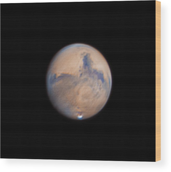 Mars Wood Print featuring the photograph Mars from 31st October 2020 by Prabhu Astrophotography