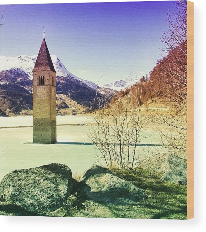 Beautiful Wood Print featuring the photograph Lago Di Resia - Alto Adige by Luisa Azzolini