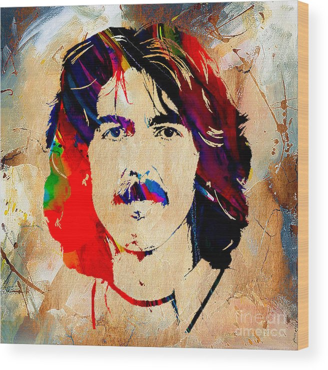 George Harrison Art Wood Print featuring the mixed media George Harrison Collection by Marvin Blaine