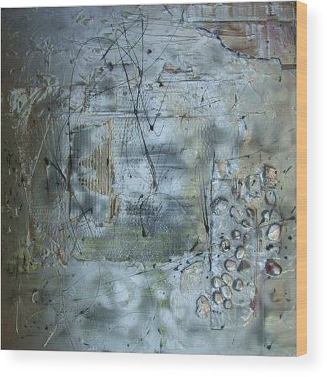 Mixed Media.assemblage Wood Print featuring the mixed media .........mixed Media........ by Wiola Anyz