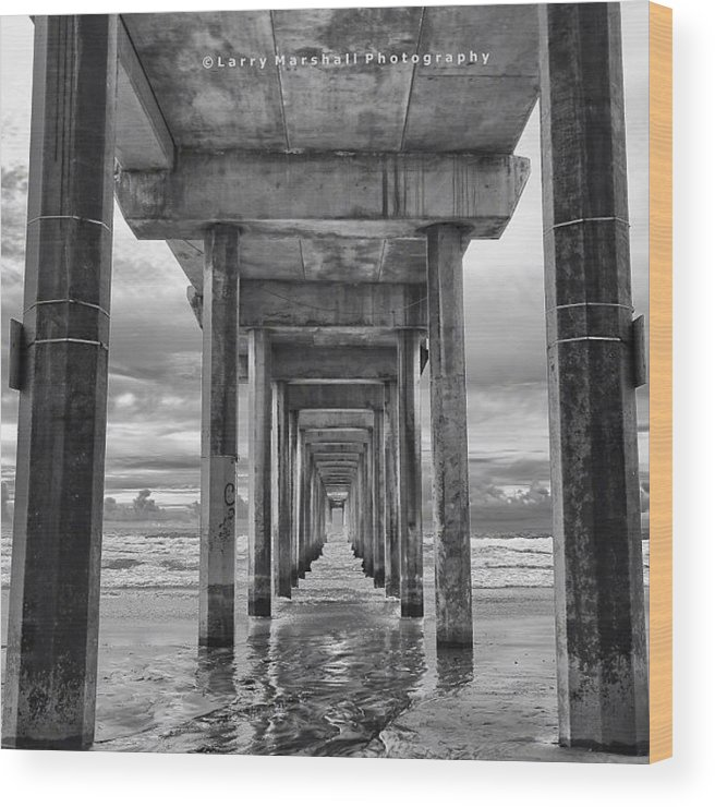 Wood Print featuring the photograph A Stormy Day In San Diego At The by Larry Marshall