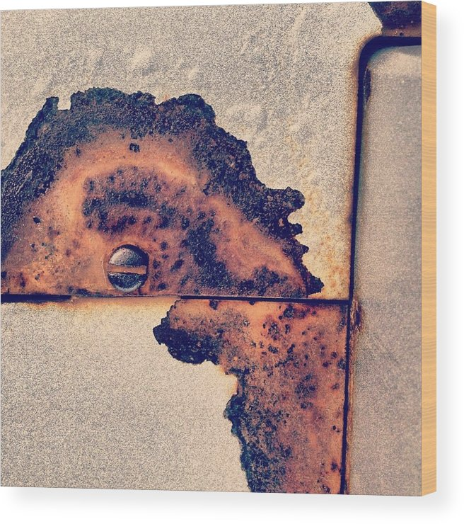 Abstract Wood Print featuring the photograph Absract Rust by Christy Beckwith