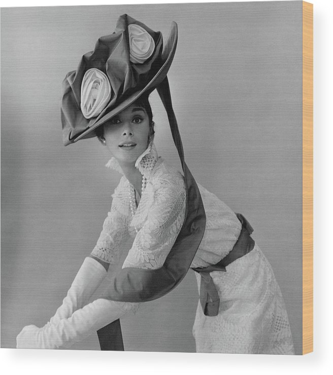 Actress Wood Print featuring the photograph Audrey Hepburn In Costume For My Fair Lady by Cecil Beaton