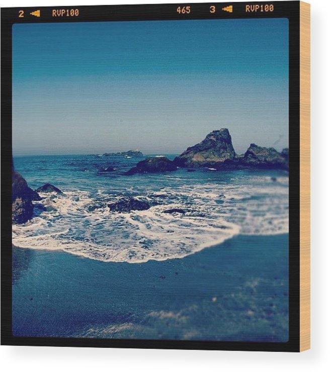 Beautiful Wood Print featuring the photograph #beach #beautiful #water #waves #nature by Jill Battaglia
