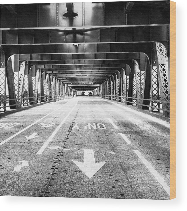 America Wood Print featuring the photograph Chicago Wells Street Bridge Picture by Paul Velgos