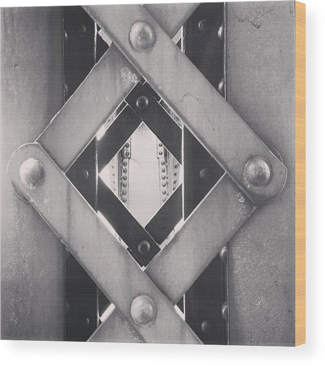 America Wood Print featuring the photograph Chicago Bridge Iron Close-Up Picture by Paul Velgos