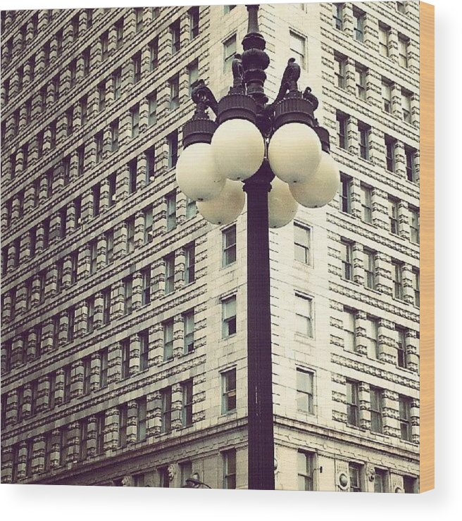 Chicago Wood Print featuring the photograph Chicago Lamp Post by Jill Tuinier
