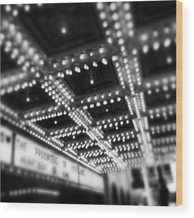 America Wood Print featuring the photograph Chicago Oriental Theatre Lights by Paul Velgos