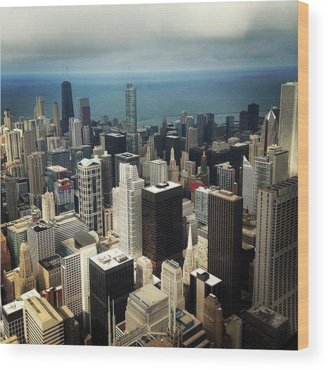City Wood Print featuring the photograph Chicago, Second To None by Mike Maher