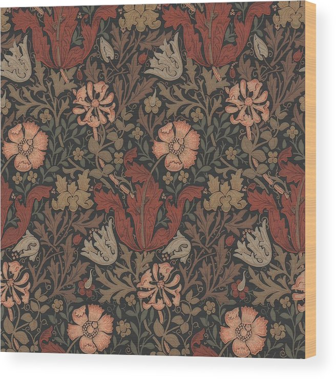 William Wood Print featuring the tapestry - textile Compton Design by Philip Ralley