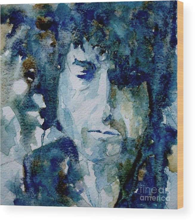 Icon Wood Print featuring the painting Dylan by Paul Lovering