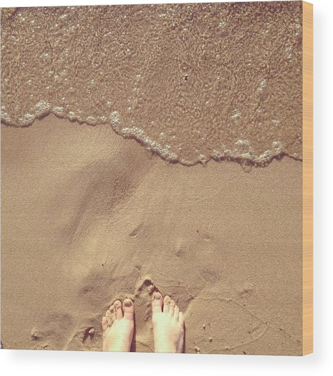 Feet Wood Print featuring the photograph Feet on the Beach by Christy Beckwith