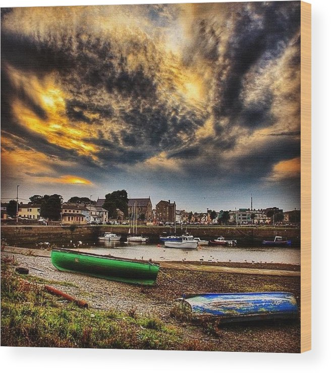 Shotaward Wood Print featuring the photograph #galway #ireland #landscape #nature by Luisa Azzolini