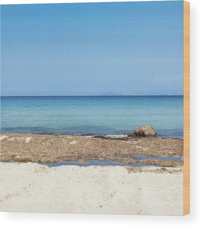 Greek Culture Wood Print featuring the photograph Greek Sea by Deimagine