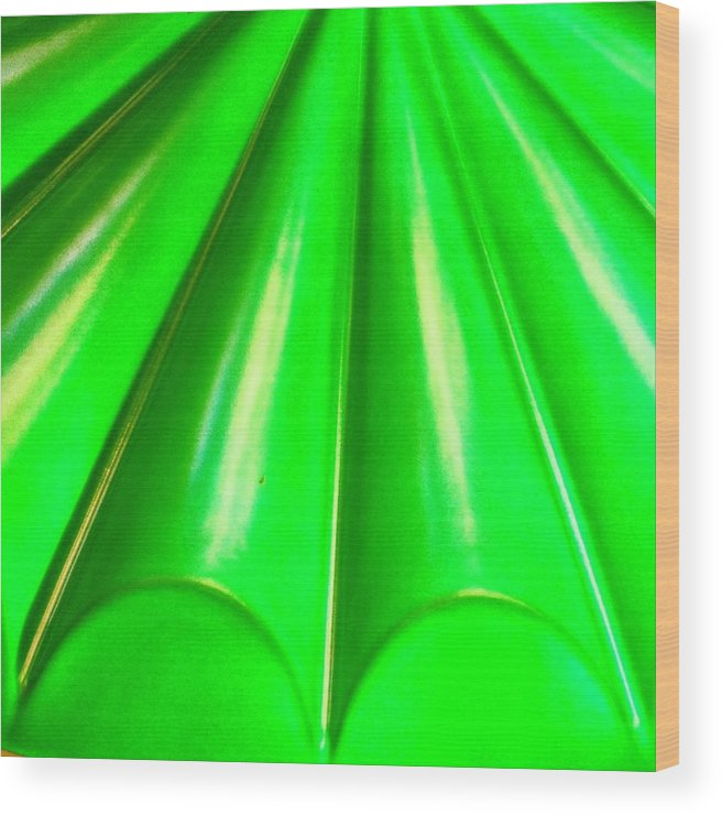 Abstract Wood Print featuring the photograph Green Abstract by Christy Beckwith