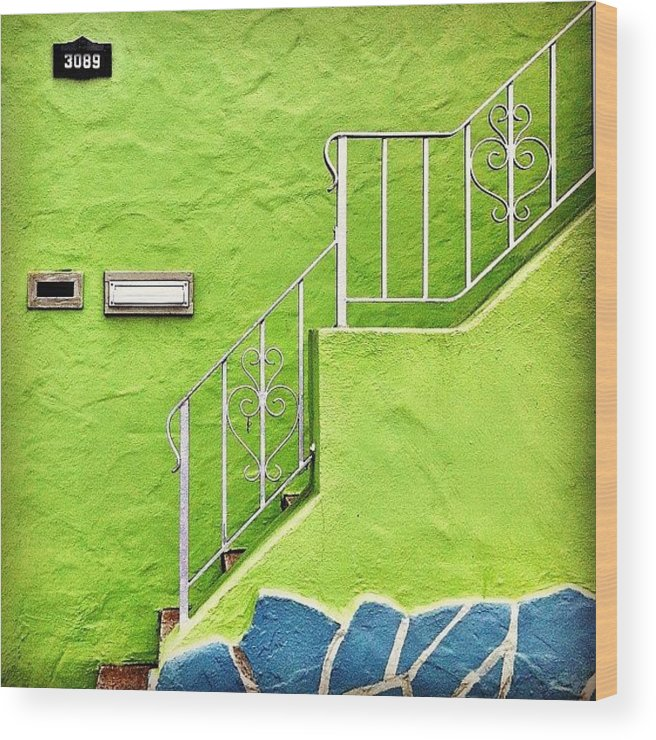 Green Wood Print featuring the photograph Green House by Julie Gebhardt