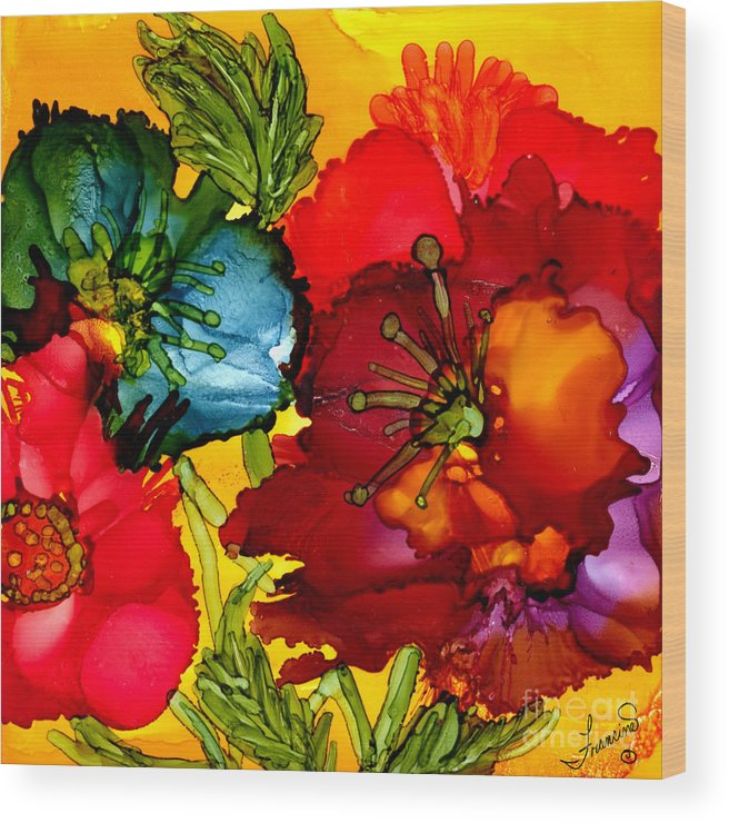 Color Wood Print featuring the painting Have Some Color Today by Francine Dufour Jones