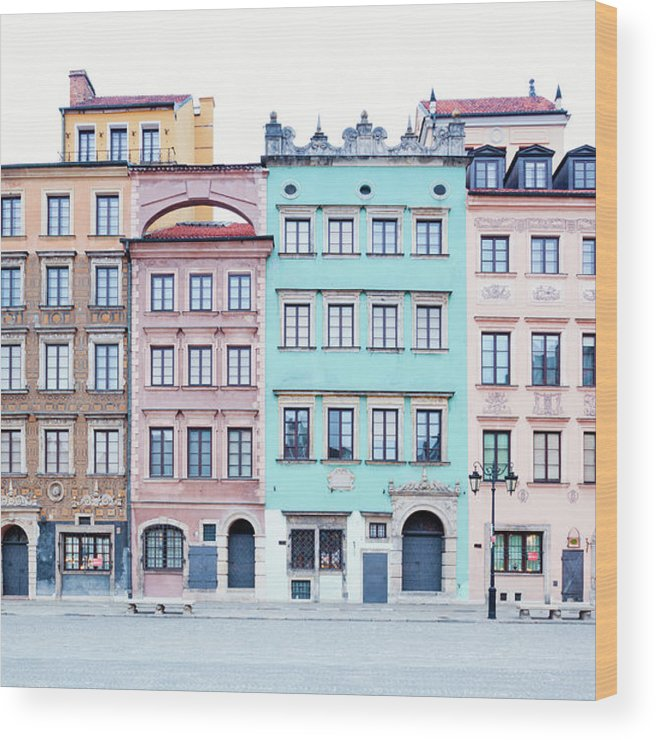 Apartment Wood Print featuring the photograph Houses On Old Town Market Place by Jorg Greuel