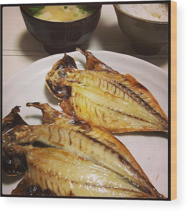Food Wood Print featuring the photograph #japan#food by Tokyo Sanpopo