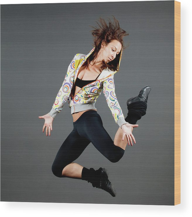 Ballet Dancer Wood Print featuring the photograph Jumping by Lukatdb