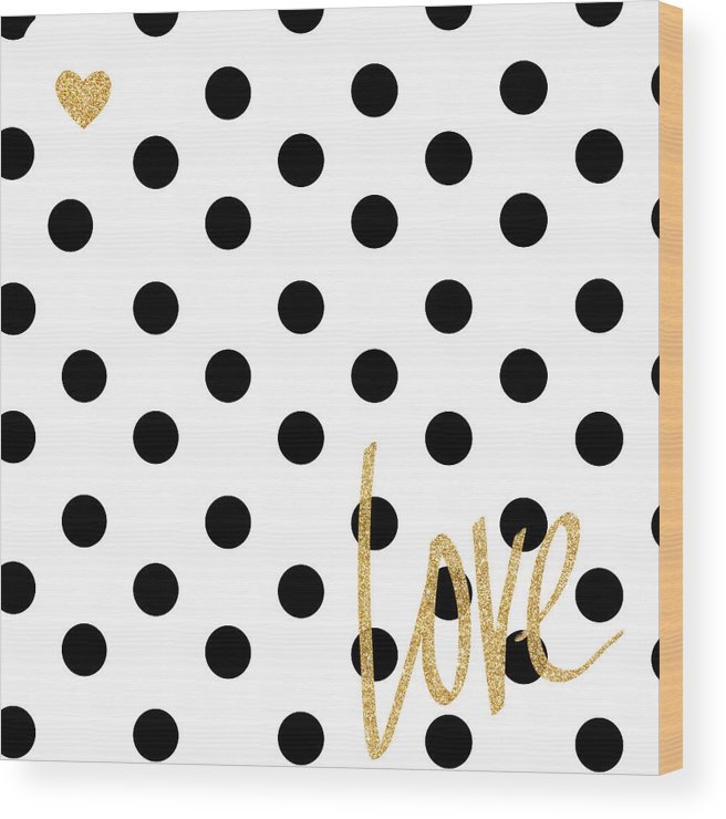 Love Wood Print featuring the digital art Love With Dots by South Social Studio