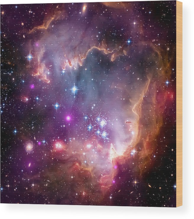 Universe Wood Print featuring the photograph Magellanic Cloud 3 by Jennifer Rondinelli Reilly - Fine Art Photography