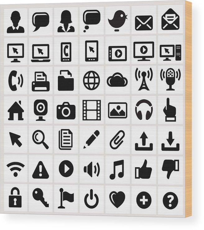 Internet Wood Print featuring the digital art Modern Technology Internet Social by Bubaone