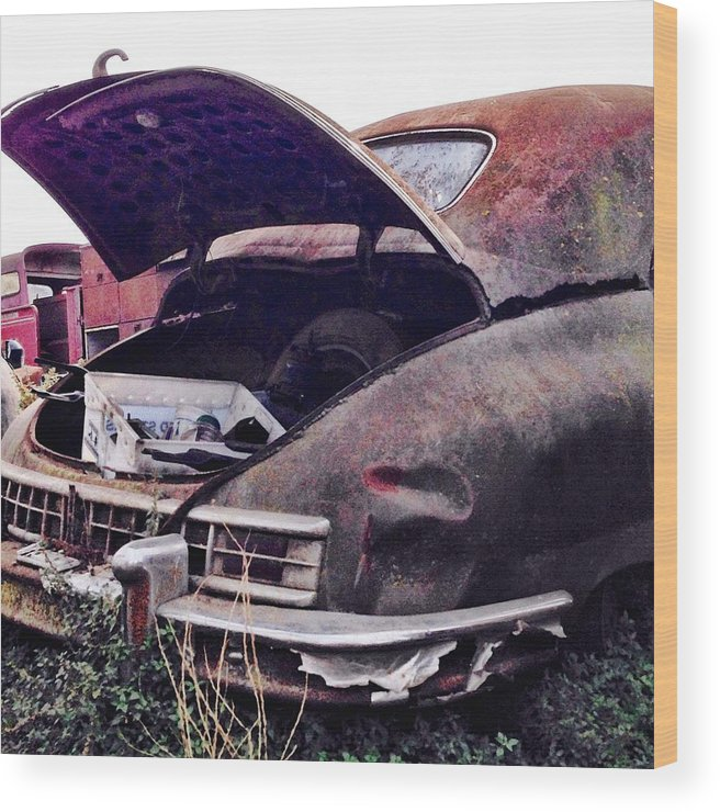 Classic Car Wood Print featuring the photograph Old Car by Julie Gebhardt
