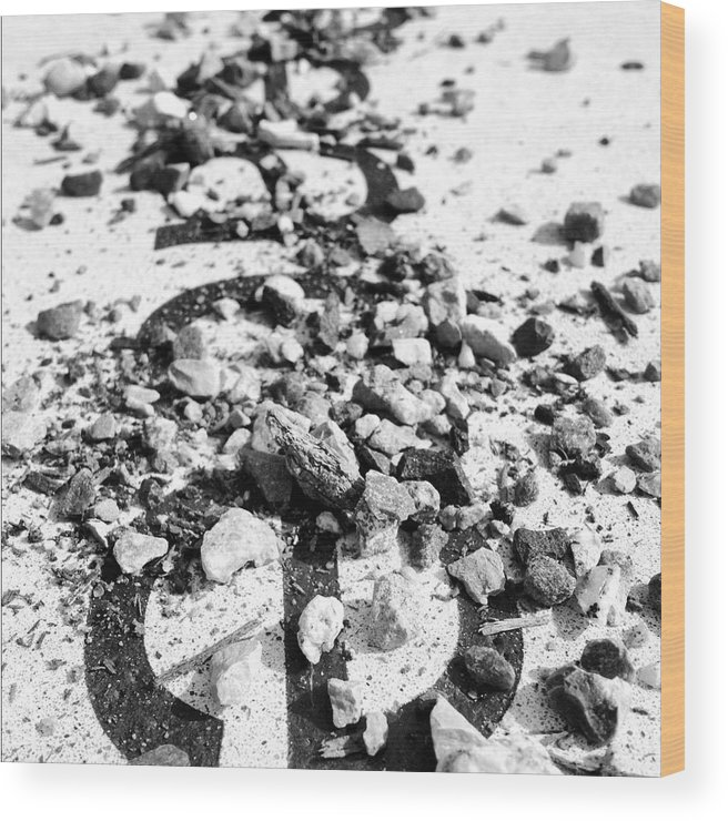Abstract Wood Print featuring the photograph Peace under the Rubble by Christy Beckwith