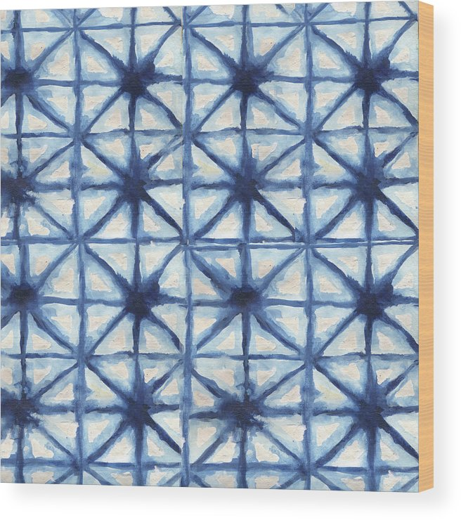 Shibori Wood Print featuring the digital art Shibori Iv by Elizabeth Medley