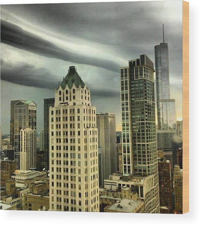 Wood Print featuring the photograph Storm Front by Jill Tuinier