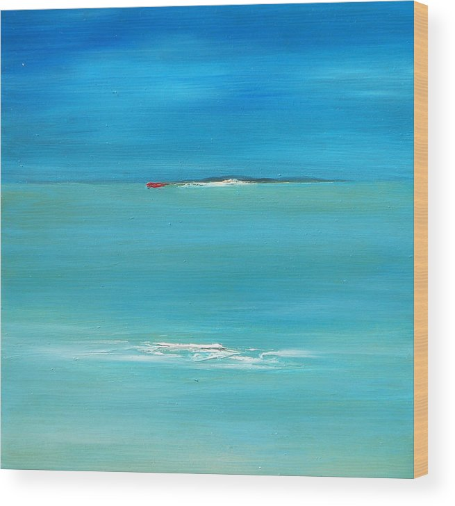 Summer Wood Print featuring the painting Summer Breeze by Fiona Jack