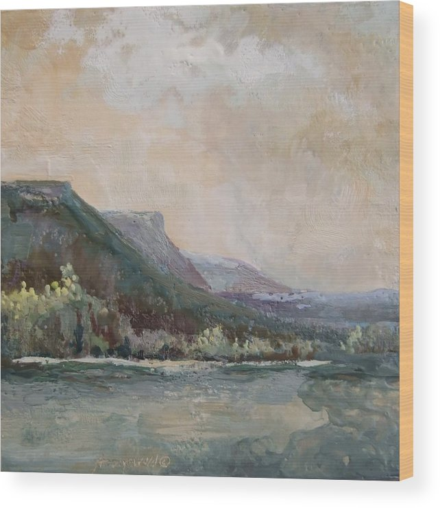 Mountains Wood Print featuring the painting Summer Buttes by Ruth Stromswold