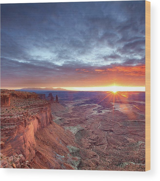 Tranquility Wood Print featuring the photograph Sunrise At Canyonlands by Hansrico Photography