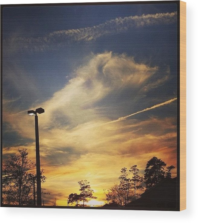 Nature Wood Print featuring the photograph #sunset #gorg #nature by Colleen Morrison
