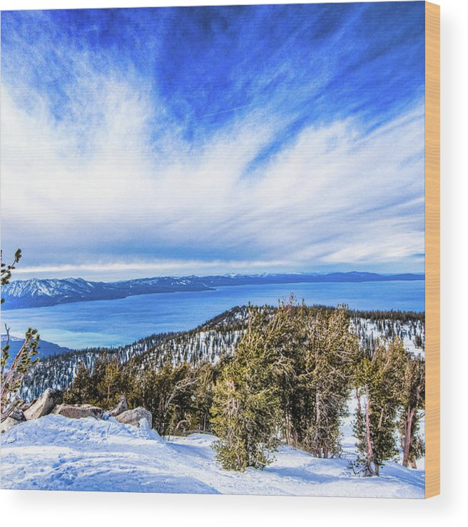 Scenics Wood Print featuring the photograph Tahoe From Heavenly by Peter Stasiewicz