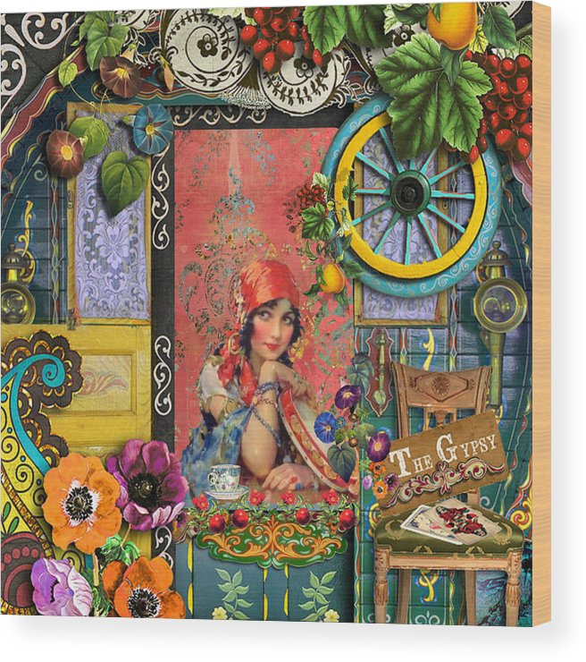 Gypsy Wood Print featuring the painting The Gypsy by Laura Botsford