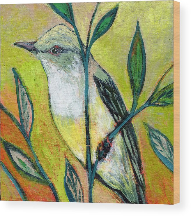 Bird Wood Print featuring the painting The NeverEnding Story No 108 by Jennifer Lommers