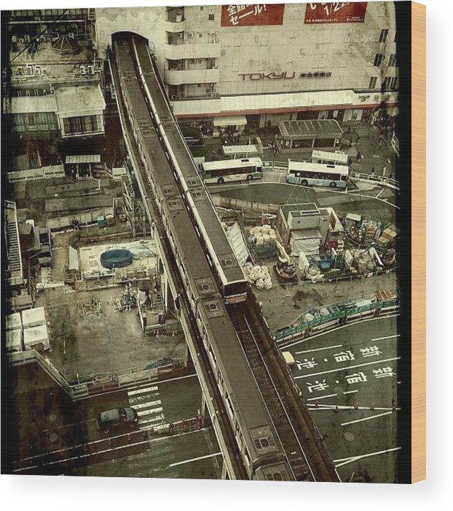 Japan Wood Print featuring the photograph #tokyo#landscape#japan by Tokyo Sanpopo