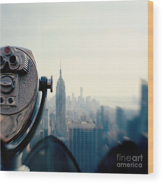 Nyc Wood Print featuring the photograph Empire State Building NYC by Kim Fearheiley
