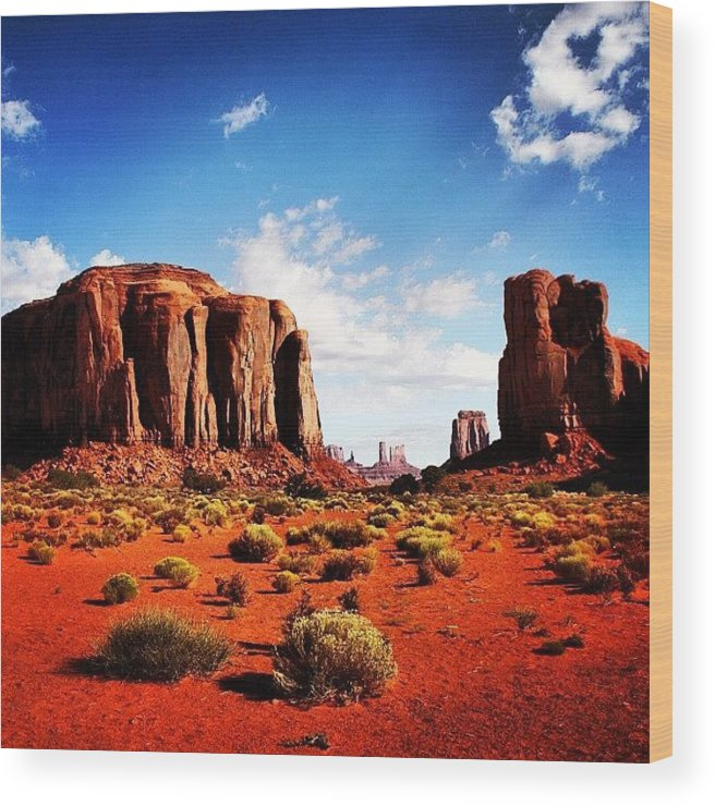 Beautiful Wood Print featuring the photograph Monument Valley by Luisa Azzolini