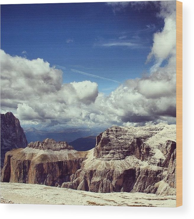 Scenery Wood Print featuring the photograph Dolomites by Luisa Azzolini