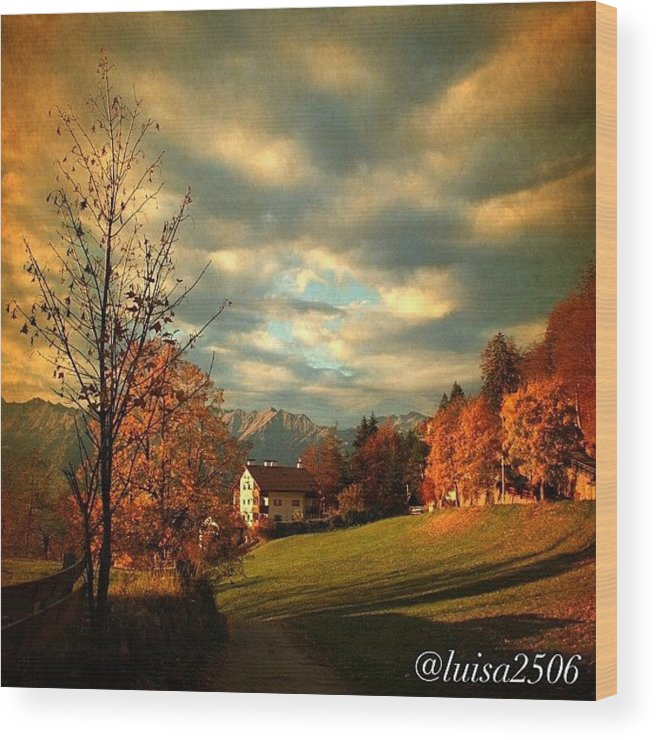 Beautiful Wood Print featuring the photograph Autumn In South Tyrol by Luisa Azzolini